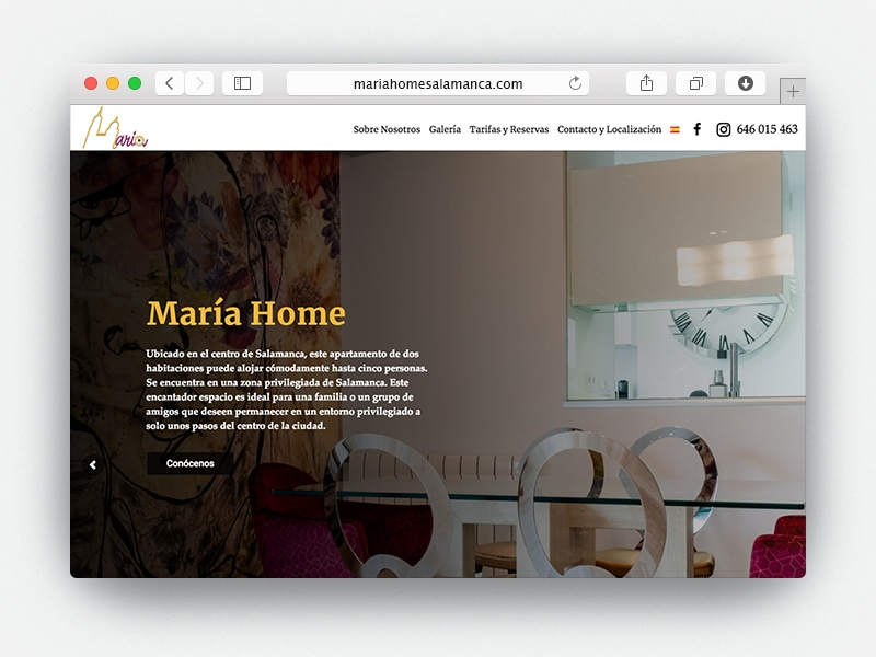 Web Maria Home Salamanca