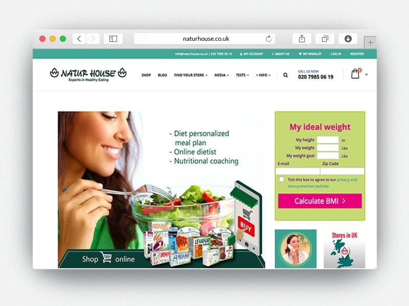 Naturhouse Desarrollo web